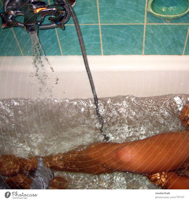 Man Water Naked Legs Swimming & Bathing Wet Living or residing Bathroom Cleaning Bathtub Guy Shower (Installation) Wash Flow Section of image