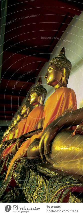 Buddhas Bangkok Buddhism Statue Thailand Religion and faith Art Culture buddahs Row Perspective religious studies