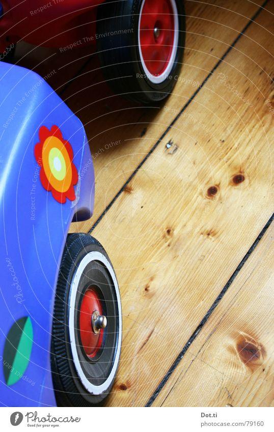 Blue Flower Joy Playing Car Infancy Driving Lawn Logistics Plastic Toys Statue Wheel Label Coil Wooden floor