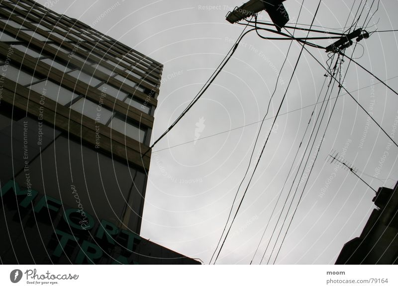 upsidedown Sky Beirut High-rise Fishing rod Town Architecture cable cloudy