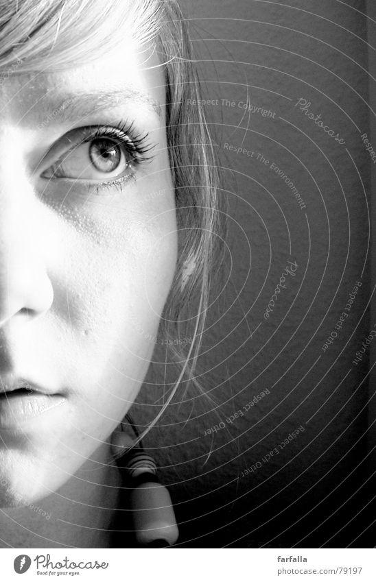 Woman Face Eyes Longing Ambiguous