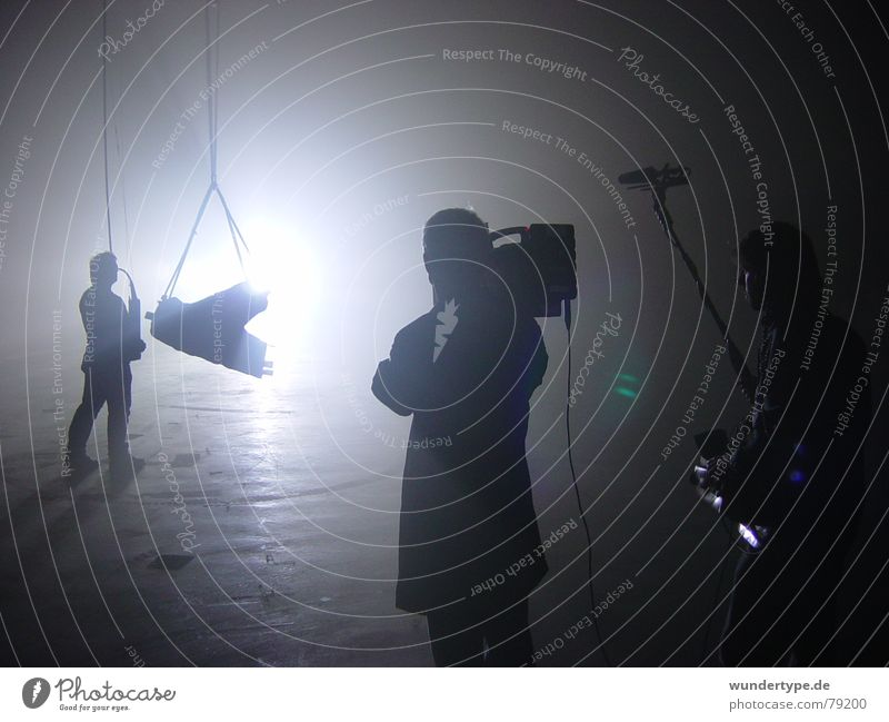 Man White Black Dark Cold Work and employment Group Gray Bright Room Metal Photography Art Fog Concrete Rope
