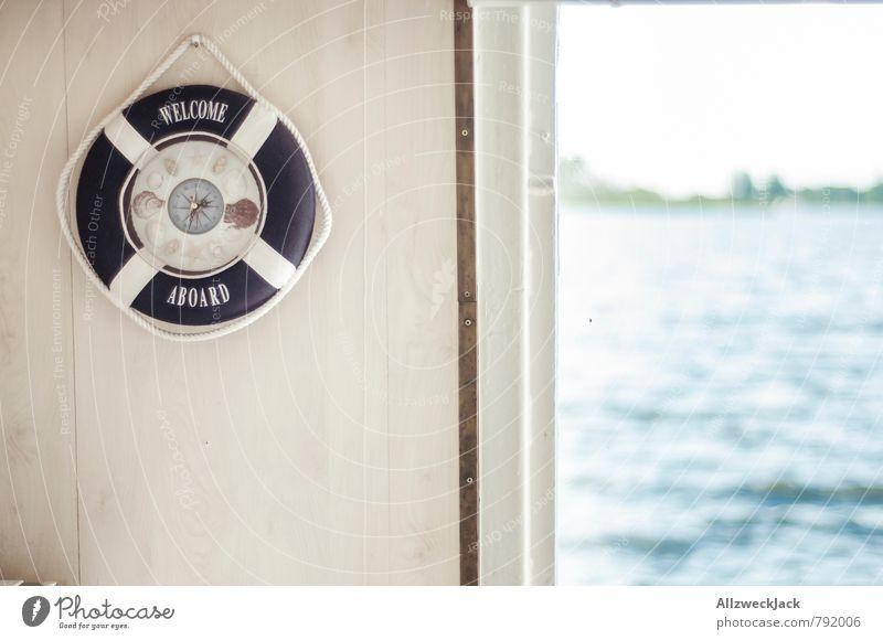 Welcome aboard! Cruise Decoration Navigation Boating trip Life belt Compass (Navigation) Contentment Sadness Nostalgia Nostalgia for former East Germany