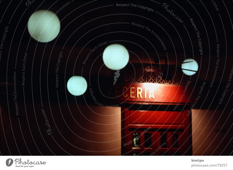light reflexes Madrid Bar Club lights circle spain cerveceria traditional door red night dreams abstract color long exposure Exterior shot