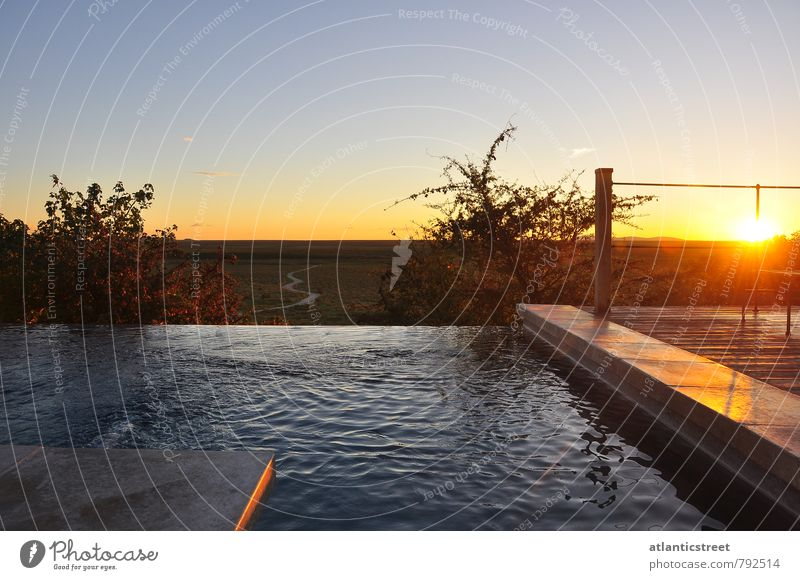 Vacation & Travel Sun Loneliness Relaxation Calm Far-off places Swimming & Bathing Freedom Moody Horizon Idyll Tourism Beautiful weather Adventure Cloudless sky Africa