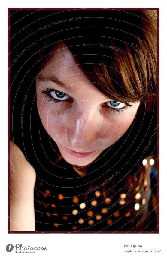 autumn portrait Autumn Woman Brown Freckles Physics Face Gold eyes. Portrait photograph Warmth