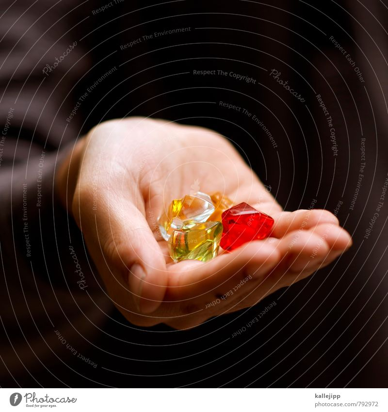 counterfeit Hand Fingers Green Red Diamond Luxury Value Precious Possessions Own Treasure Precious stone To hold on Paying Statue Betray Toys Decoration