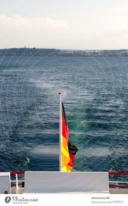 Land O Land Means of transport Passenger traffic Navigation Boating trip Passenger ship On board Driving Swimming & Bathing Maritime Gold Red Black Flag