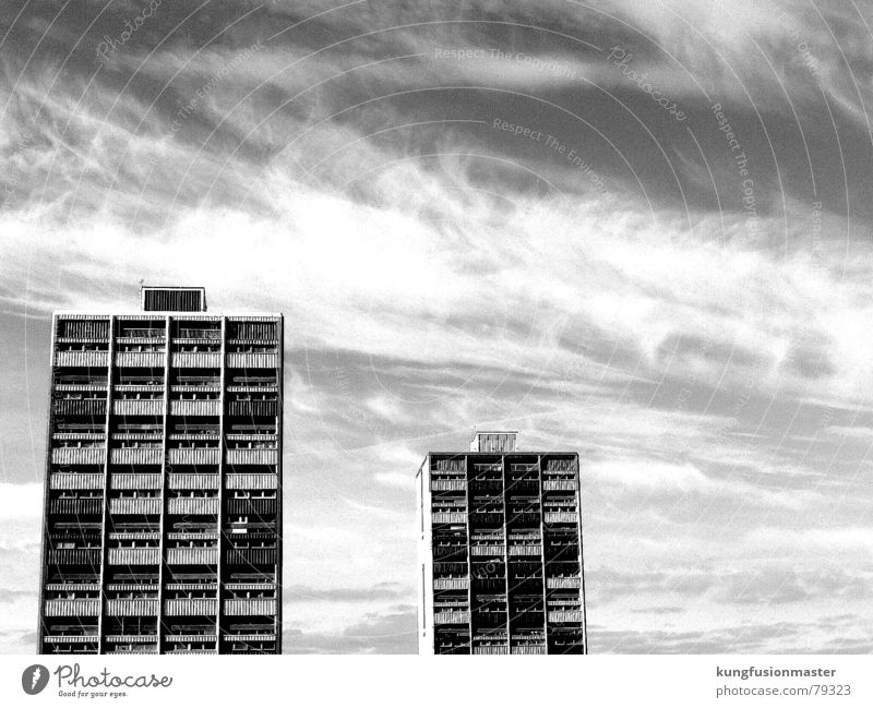 Sky Clouds Window Flat (apartment) Poverty High-rise Prefab construction Scotland Edinburgh