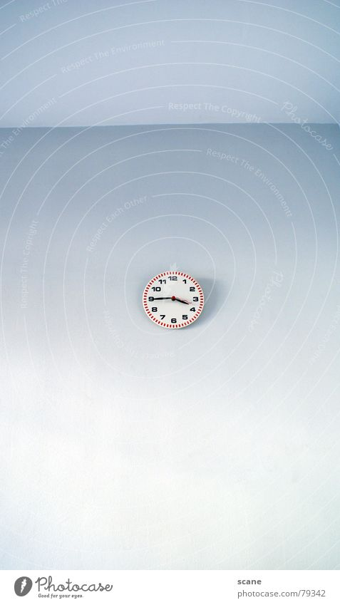 Blue Wall (building) Wall (barrier) Room Time Corner Clock Decoration Digits and numbers 4 Living room Sky blue Clock hand