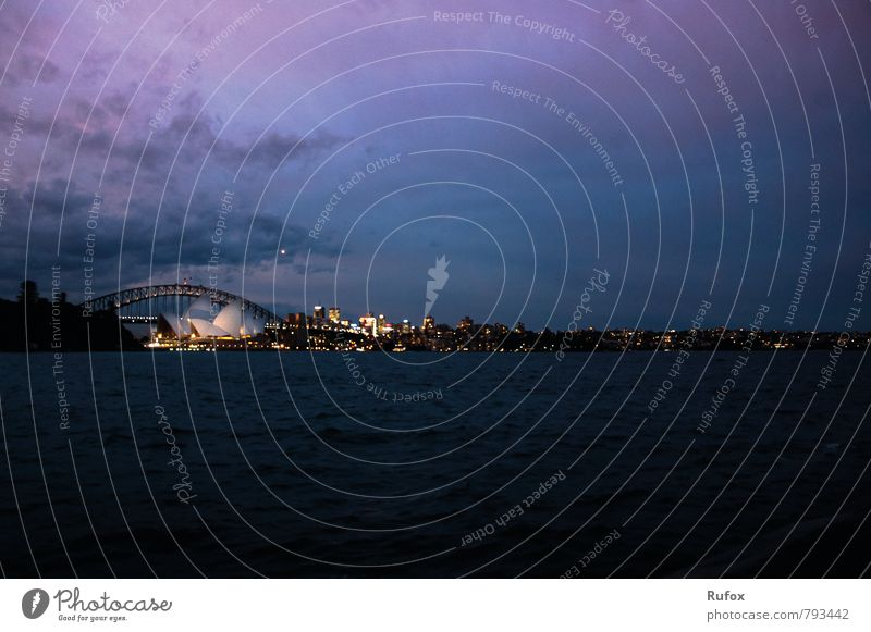 Sydney´s Charm Art Theatre Stage Opera Opera house Orchestra Air Water Sky Night sky Sunrise Sunset Sydney Harbour Australia Town Capital city Port City
