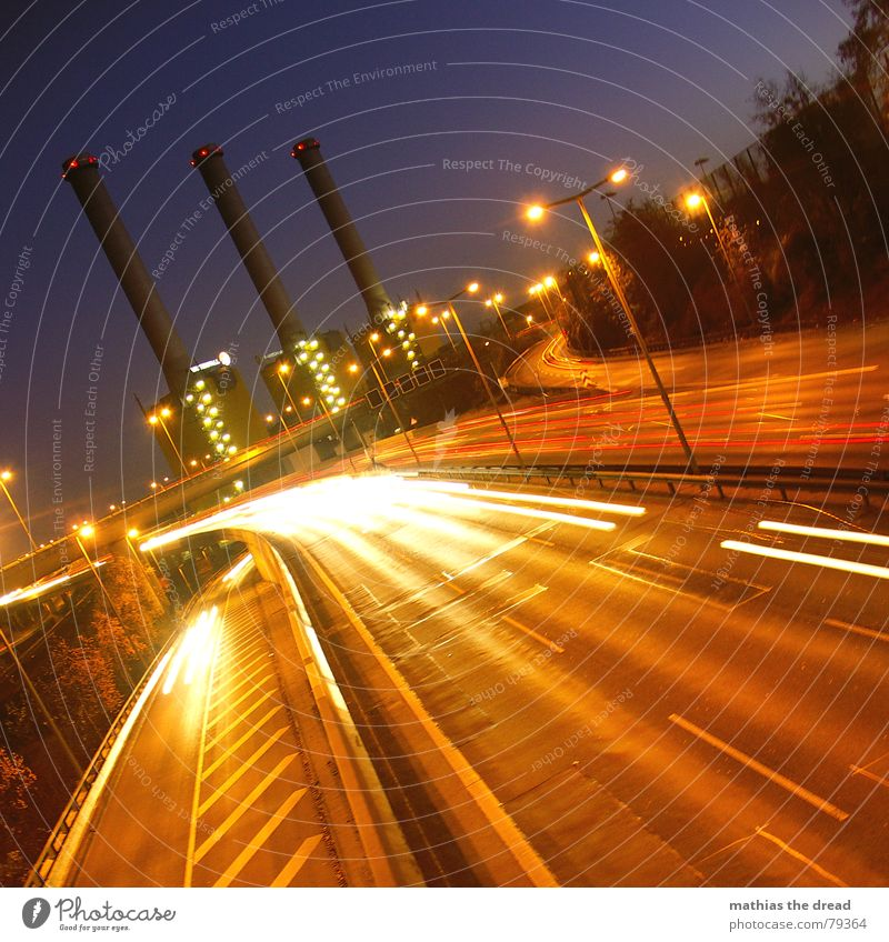 Sky Red Dark Berlin Gray Stone Car Lighting Feasts & Celebrations Road traffic Concrete Bridge Industrial Photography Factory Tower Violet