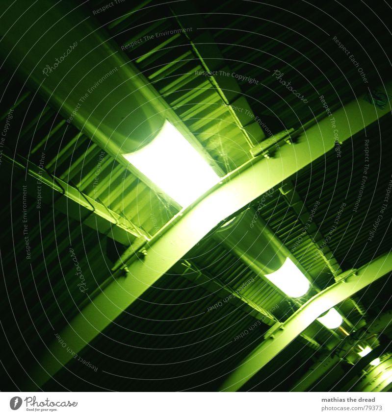 Green Loneliness Dark Death Berlin Metal Lamp Lighting Back Crazy Perspective Corner Circle Roof Part Diagonal