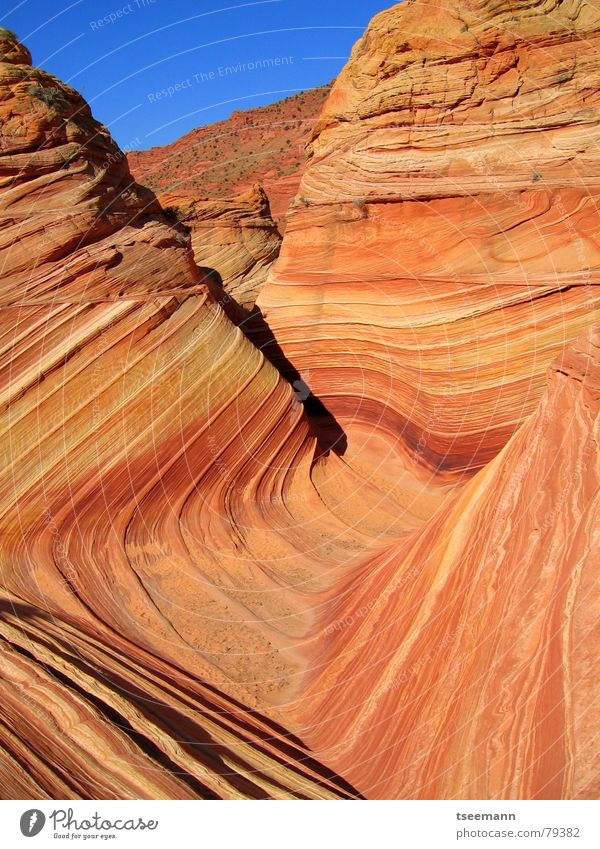 Red Yellow Mountain Stone Orange Waves USA Canyon Marble Sandstone
