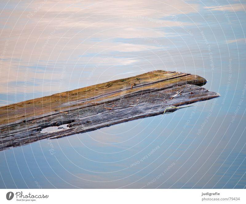 Nature Water Old Sky Blue Calm Wood Lake Brown Broken Lie Mirror Derelict Wooden board Pond Material