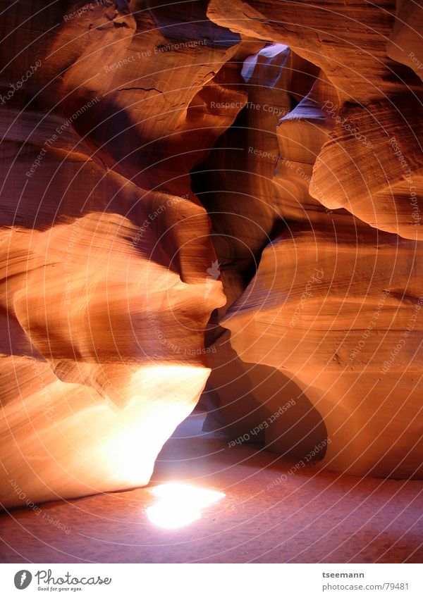 Red Stone Sand Rock Earth USA Canyon Minerals Beam of light Page Sandstone Arizona Antelope Canyon