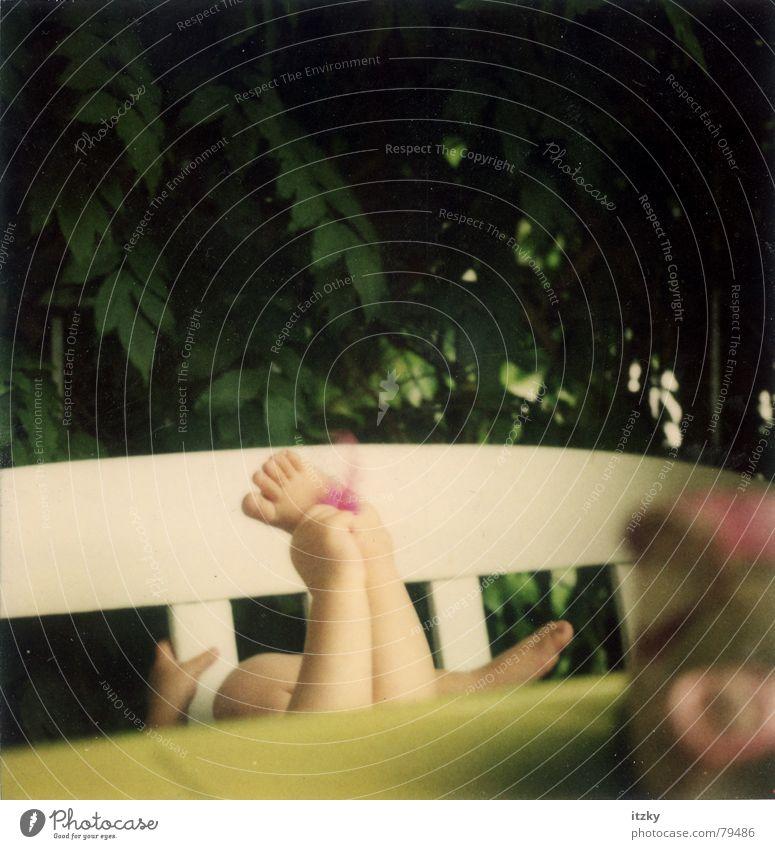 Rosa's Feet Summer Child Balcony Playing Green Hand polaroid ® Polaroid