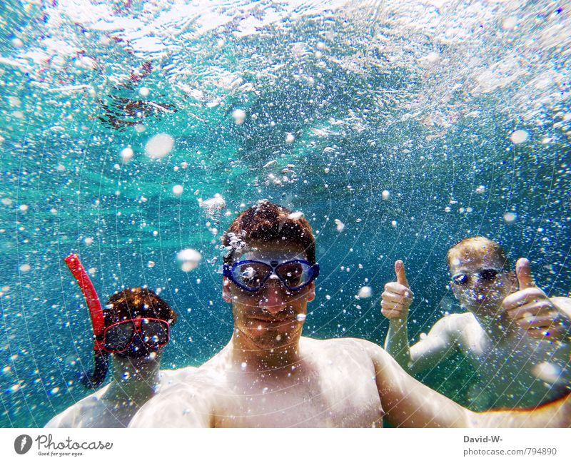 underwater vacation Joy Wellness Contentment Whirlpool Swimming & Bathing Dive Vacation & Travel Tourism Adventure Summer Summer vacation Sunbathing Beach Ocean