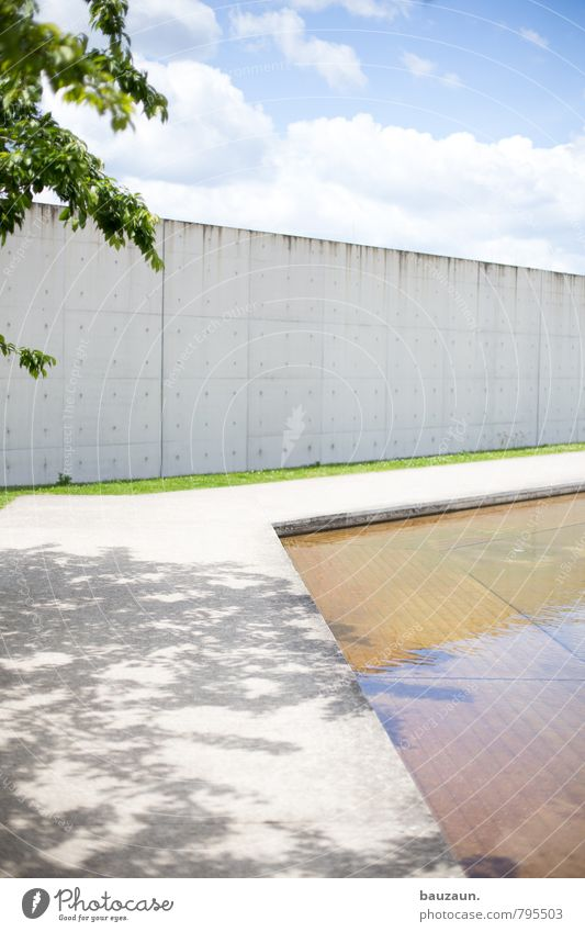 tree shadow. Trip Summer Water Sky Clouds Sun Plant Tree Grass Garden Park Meadow Deserted Places Manmade structures Wall (barrier) Wall (building)