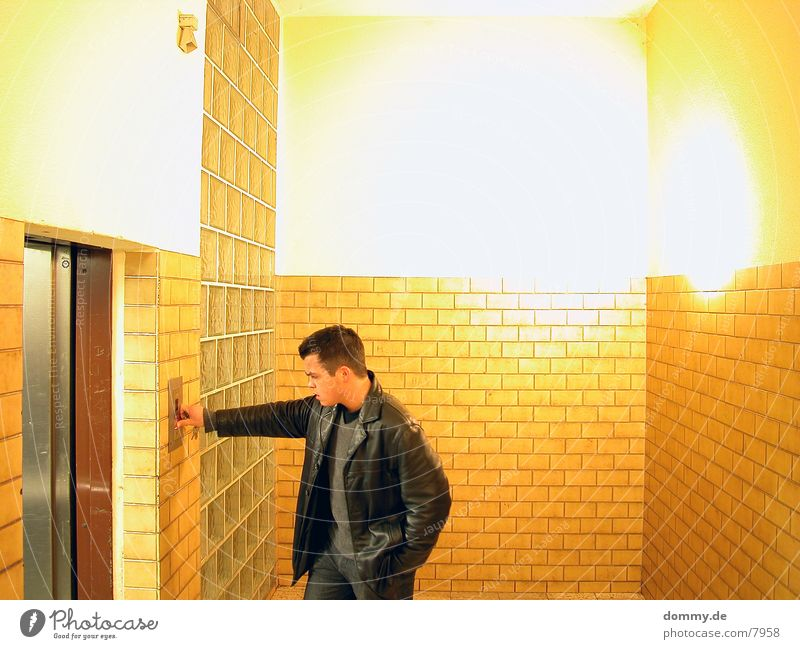 Human being Man Room Tile Elevator