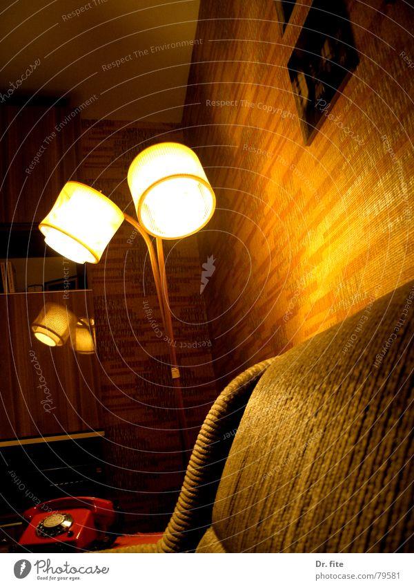 Old Dark Lamp Bright Orange Brown Germany Lighting Sofa Living room GDR Nostalgia Cupboard Shelves Sunless Illuminant