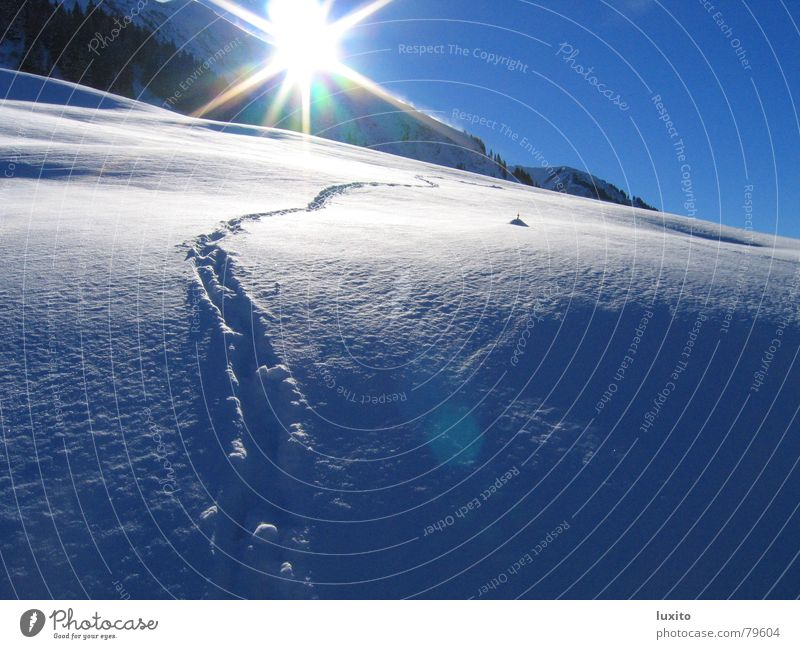 Nature Sky Sun Blue Summer Winter Vacation & Travel Clouds Cold Snow Mountain Landscape Ice Bright Tracks Alps