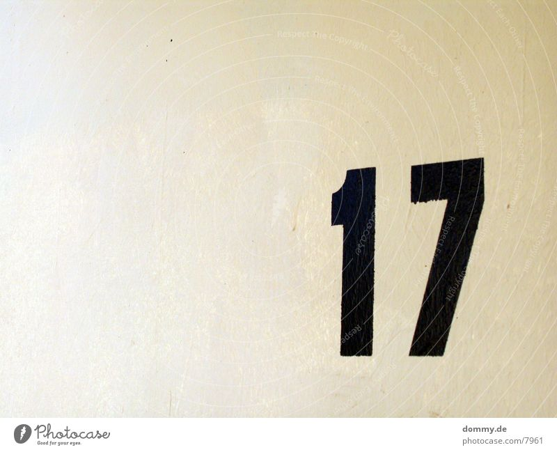 Black Digits and numbers Beige 17