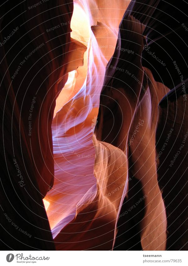 Antelope Canyon II Page Sandstone Red Light Arizona Stone Minerals Earth USA Rock Beam of light sun slot sun beam