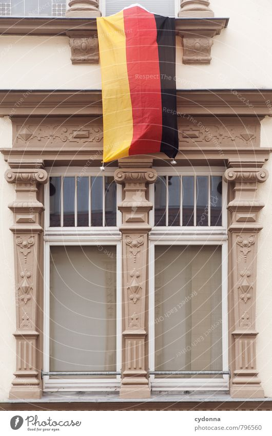 City House (Residential Structure) Window Wall (building) Life Architecture Wall (barrier) Lifestyle Feasts & Celebrations Germany Facade Decoration Esthetic