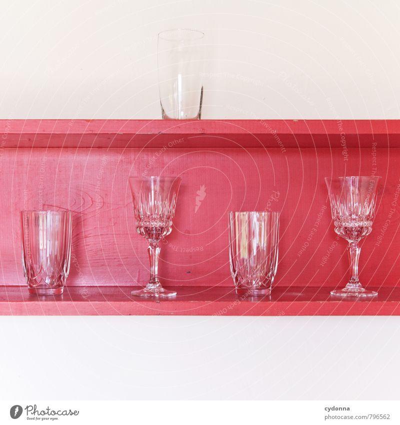 Beautiful Colour Red Calm Style Lifestyle Design Arrangement Multiple Glass Esthetic Empty To enjoy Uniqueness Kitchen Bar