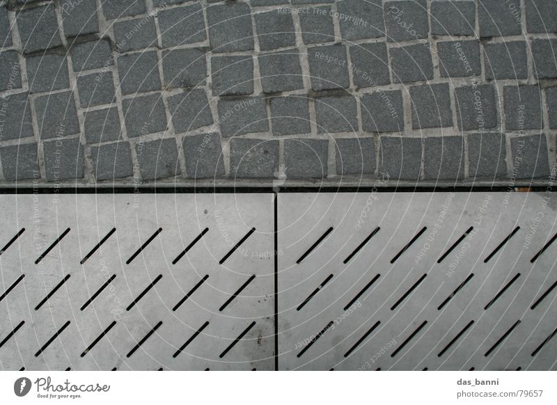 City Cold Gray Stone Metal Line Horizon Dirty Modern Floor covering Cloth Tracks Square Diagonal Footprint Row