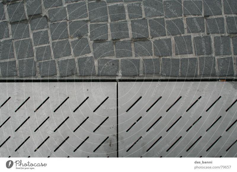 City Cold Gray Stone Metal Line Horizon Dirty Modern Floor covering Cloth Tracks Square Diagonal Footprint Row