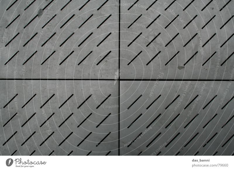 City Cold Gray Stone Metal Line Horizon Back Dirty Modern Floor covering Cloth 4 Tracks Middle Square