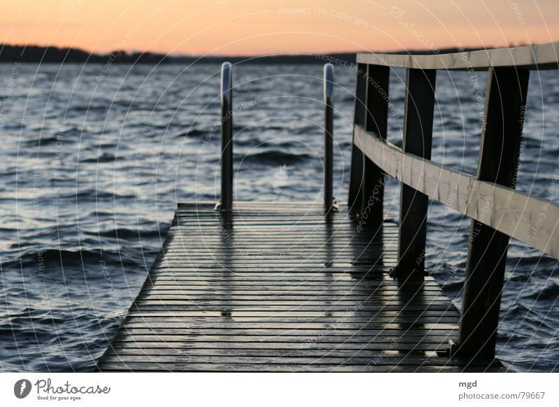Let's go for a swim! Peninsula Footbridge Smoothness Finland Ocean Wood Evening Sunset Twilight Winter Clouds Cold Wet Vacation & Travel Beach Coast Water