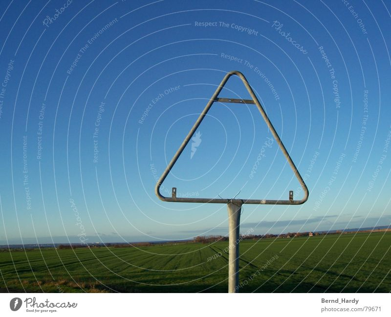 Attention Nothing! Road sign Fehmarn Field Street sign Respect Signs and labeling Signage Sky Placeholder