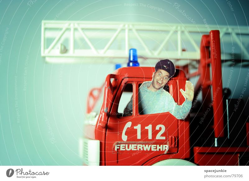 Man Joy Funny Blaze Dangerous Threat Toys Freak Fireman Joke Fire engine Miniature Deployment Fire department deployment