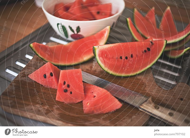 watermelon Food Fruit Water melon Melon Nutrition Organic produce Vegetarian diet Bowl Knives Chopping board Healthy Eating Fresh Delicious Natural Appetite