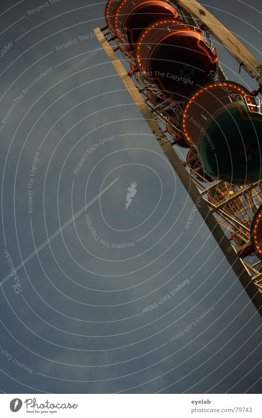 Pensioner 2.- / pupil 3,50- Ferris wheel Gray Fairs & Carnivals Clouds Oktoberfest Hover Amusement Park Sky Theme-park rides Leisure and hobbies Isolated Image