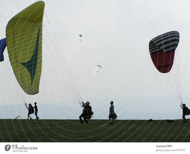 The dream of flying Slow motion Global Euphoria Paraglider Hesse Warmth Wasserkuppe Expensive Blind flight Effort Timeless Infinity Dream Bird Ease Aspire