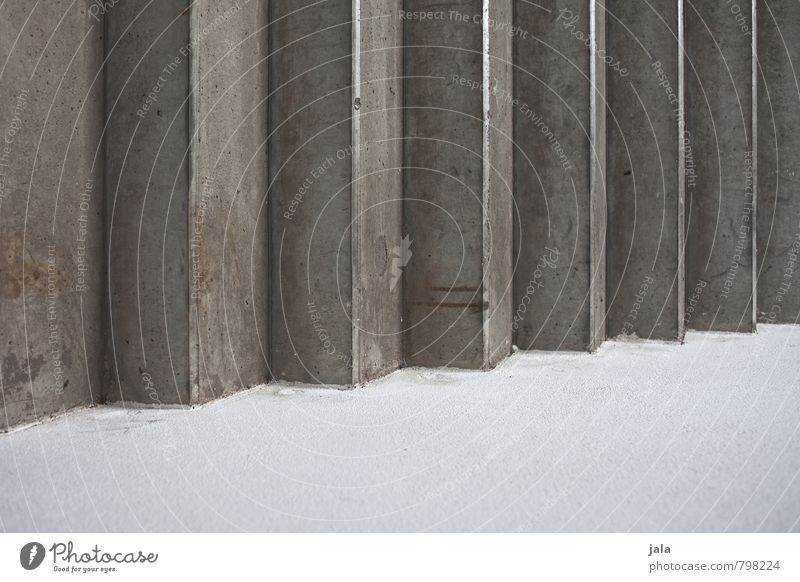 zigzag Manmade structures Wall (barrier) Wall (building) Stairs Facade Concrete Esthetic Sharp-edged Firm Gloomy Gray White Colour photo Interior shot Abstract