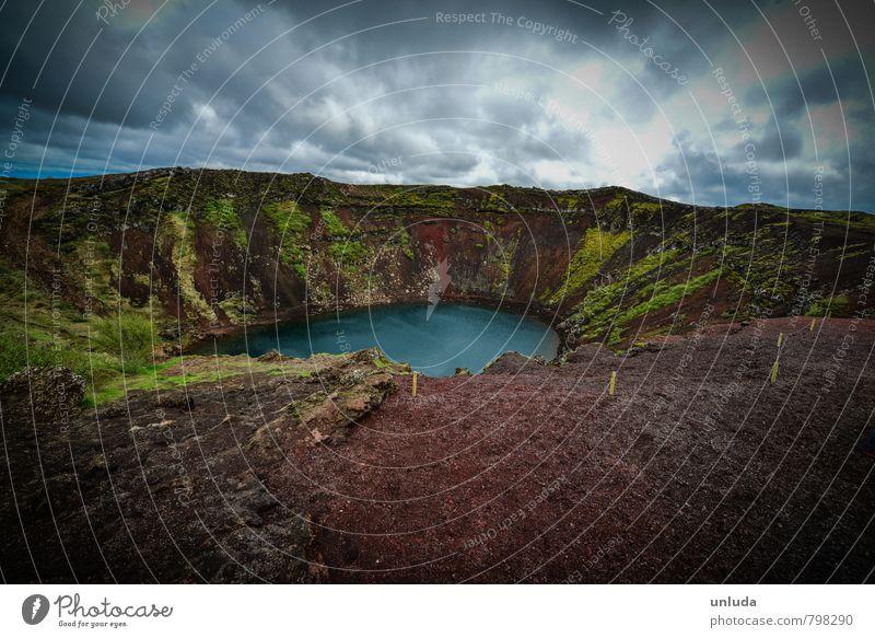 Moody Horizon Idyll Tourism Volcanic crater
