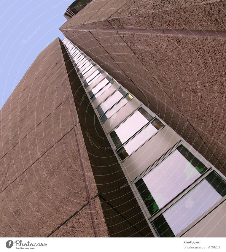Sky Blue City Window Life Above Freedom Architecture Building Line Brown Germany Facade Tall Design Concrete