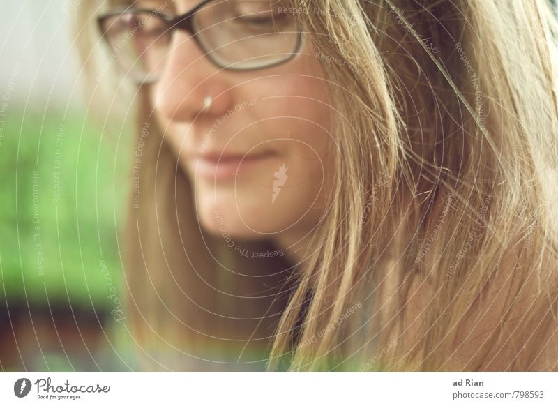 Beautiful Freak Style Nose ring Eyeglasses Human being Feminine Young woman Youth (Young adults) Woman Adults Head Hair and hairstyles Face Mouth 1