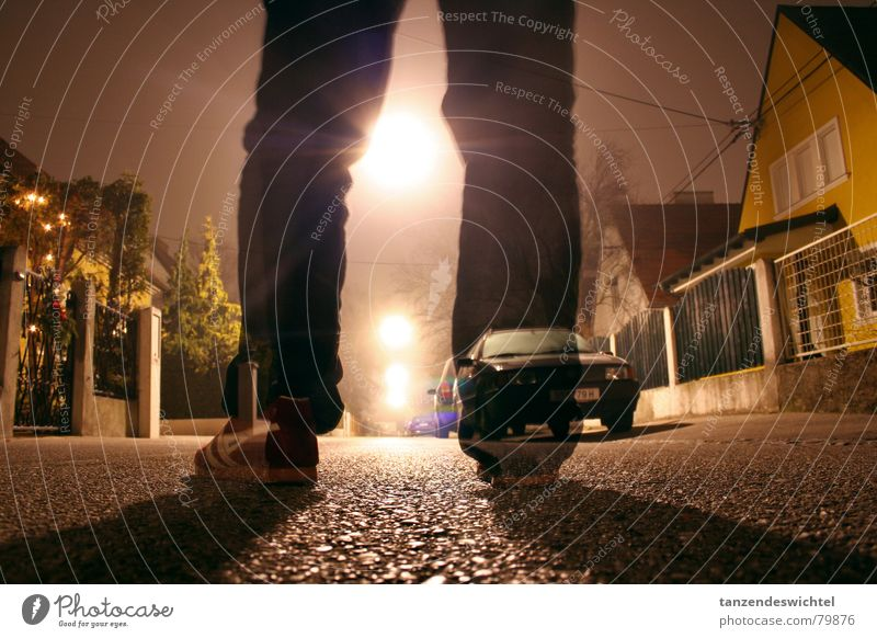 Winter Street Dark Feet Footwear Legs Fog Concrete Floor covering Street lighting Alley