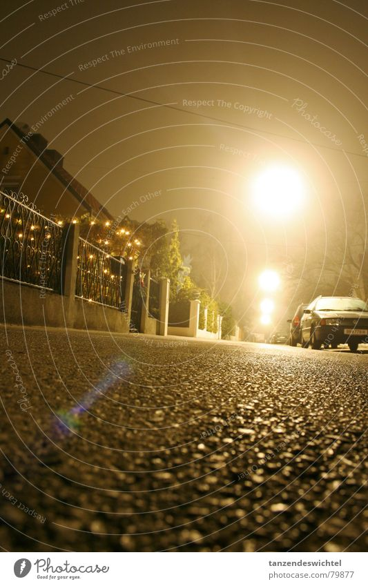 Winter Street Dark Fog Concrete Floor covering Night Street lighting Alley