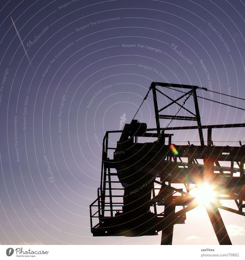 Sky Sun Blue Industry Technology Dazzle Scaffold Vapor trail Conveyor belt