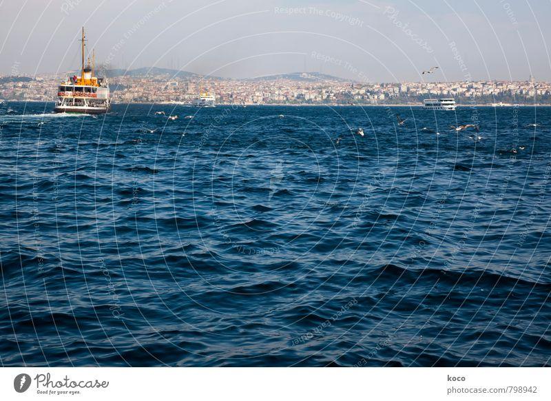 on the Bosporus... Environment Water Summer Beautiful weather Waves Coast Ocean The Bosphorus Istanbul Turkey Europe Asia Capital city Port City Skyline