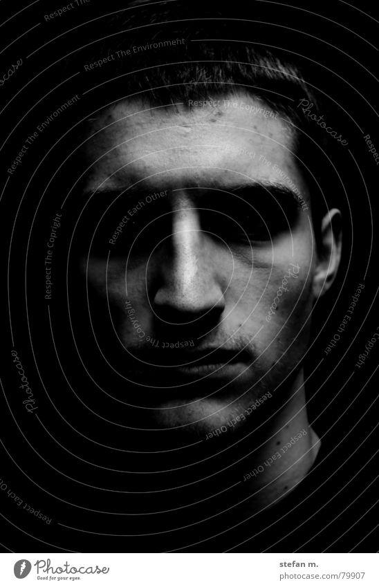 Man Face Dark Bright Fear Dangerous Ear Threat Darken Abandon Shadowy existence