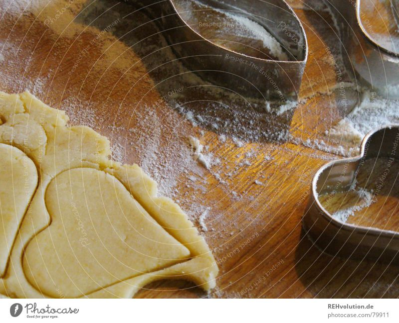 Christmas & Advent Winter Wood Heart Cooking & Baking Delicious Cake Baked goods Dough Cookie Flour Nutrition