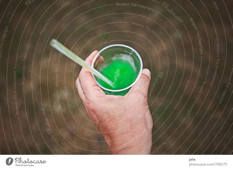 slush Beverage Cold drink Lemonade Mug Straw Feminine Hand Fresh Delicious Sweet Trashy Green Thirst Retentive Colour photo Exterior shot Copy Space left